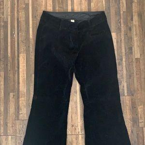 H&M Black Velvet Pants
